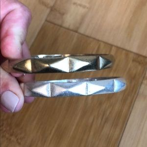 Gold and Silver bangle bracelets